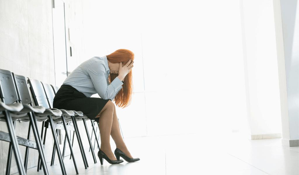 woman upset