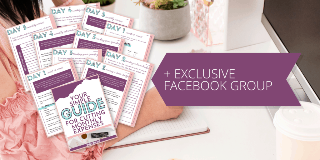 cutting expenses free printable workbook