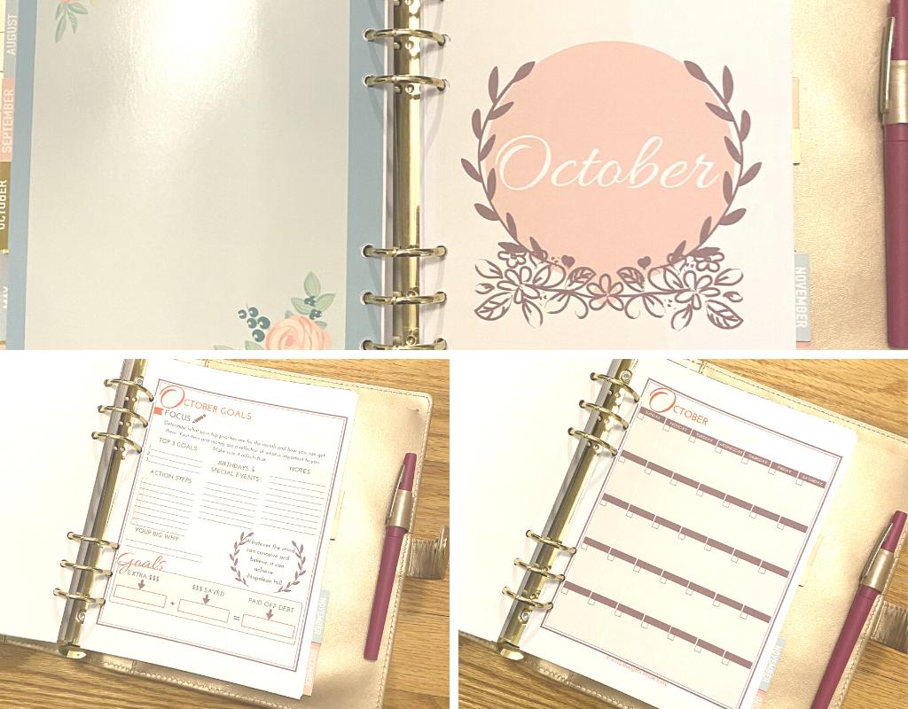 organizing bills with a budget binder