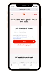 Doordash app is one the money making apps options.