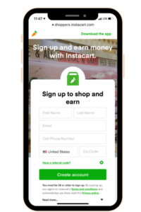 Instacart, one of the Money Making Apps for 2020.