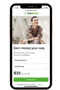 Yet another money making app, Task Rabbit.