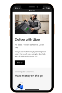 Uber Eats, one of the Money Making Apps for 2020.