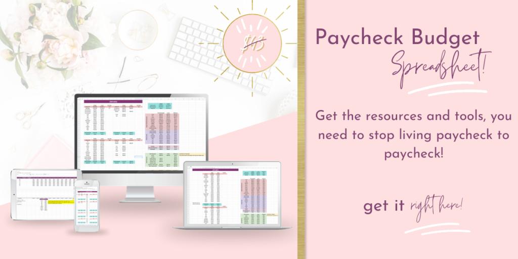 paycheck budget spreadsheet