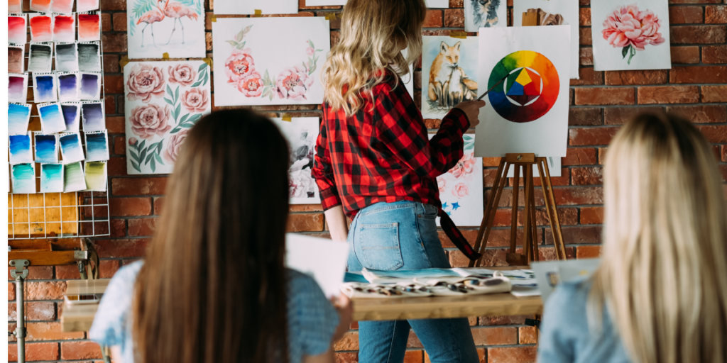 Learn to paint to earn extra money for Christmas gifts