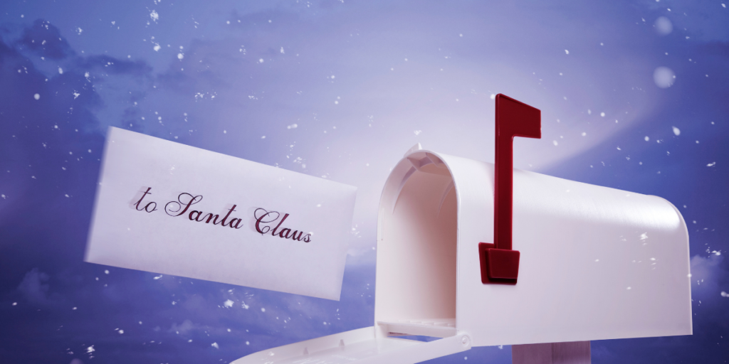 Mail to Santa for free Christmas gifts