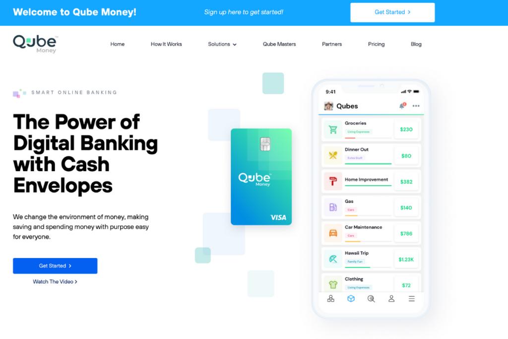 Qube digital cash envelope banking
