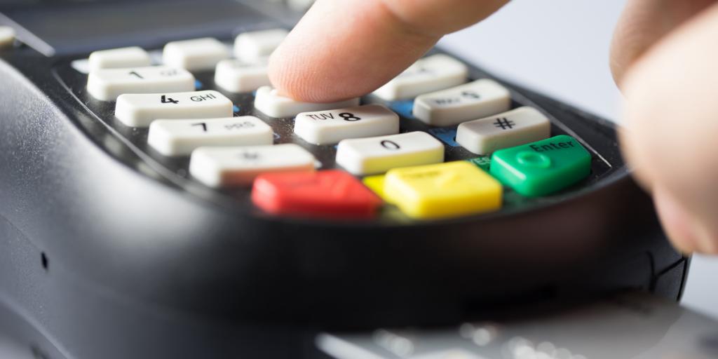 Cashless transaction on a credit card keypad
