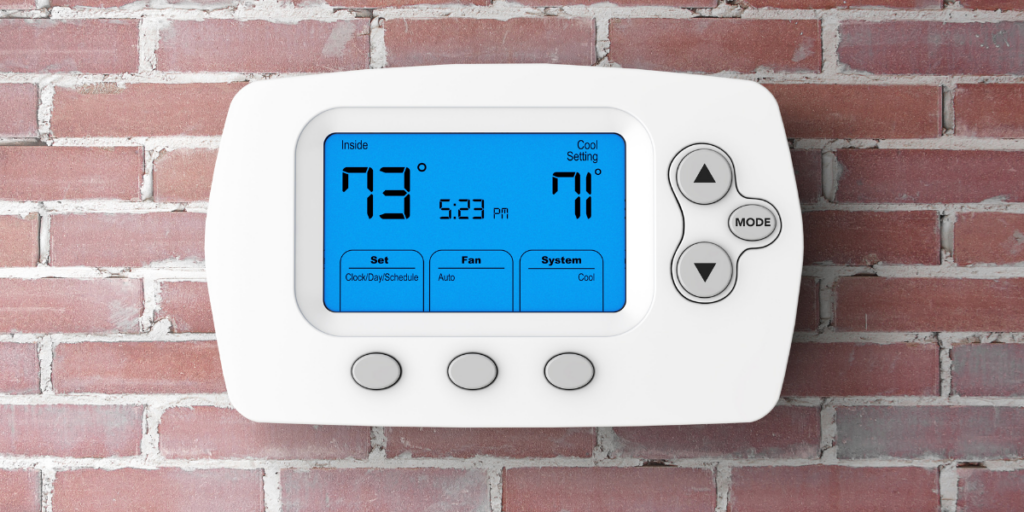 Programmable thermostat used to save on electricity,